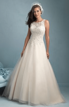 High Neck wedding gown