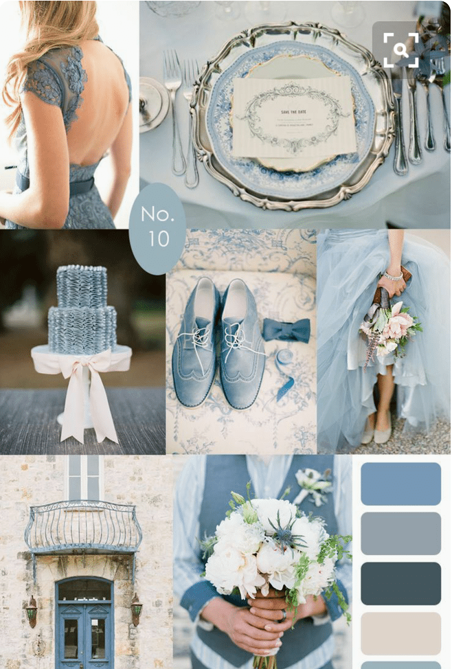 French Blue Wedding Theme. Desktop Image